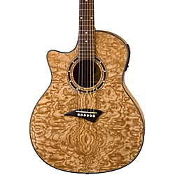 Dean Exotica Quilted Ash Left-Handed Acoustic-Electric Guitar (eqa lh)