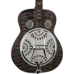 Dean Quilt Trans Black Spider Resonator (RES QM TBK)