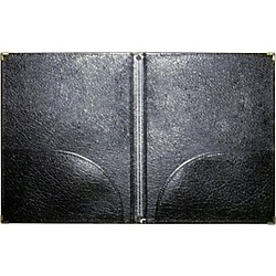 Deer River Deluxe Leatherette Choral Folio (29 BLACK)