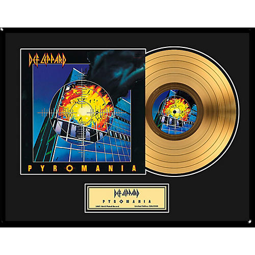 24 Kt. Gold Records Def Leppard - Pyromania Gold LP - Limited Edition of 2,500-thumbnail