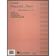 Hal Leonard Deluxe Manuscript Paper Pad (9 X 12)