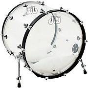 DW Design Series Acrylic Bass Drum with Chrome Hardware