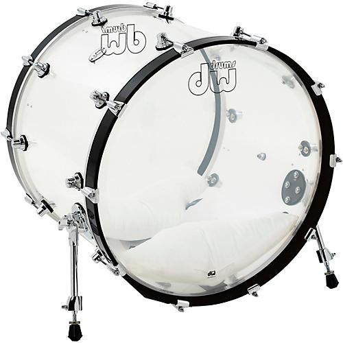 DW Design Series Acrylic Bass Drum with Chrome Hardware-thumbnail