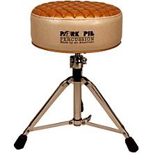 Pork Pie Deuce Diamond Tuck Round Drum Throne