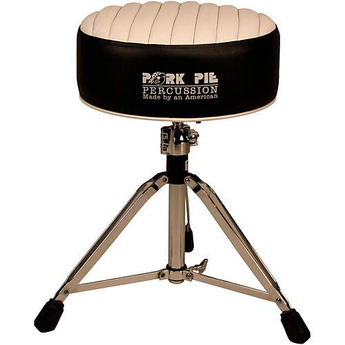 Pork Pie Deuce Tuck and Roll Round Drum Throne-thumbnail