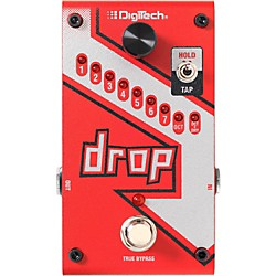 Digitech The Drop Polyphonic Drop Tune Pitch-Shifter Guitar Effects Pedal (USM-DROP)