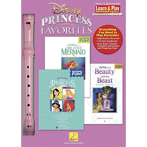 Hal Leonard Disney Princess Favorites Learn & Play 3-Book & Recorder Pack-thumbnail