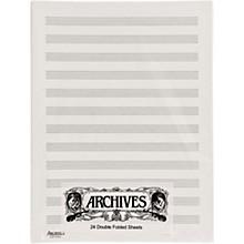Archives Double Folded Manuscript Paper 12 Stave