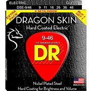 DR Strings Dragon Skin (2 Pack) Hard Coated Electric Guitar Strings (9-46)