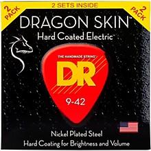 DR Strings Dragon Skin (2 Pack) Light Coated Electric Guitar Strings (9-42)