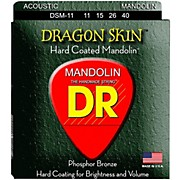 DR Strings Dragon Skin Clear Coated Mandolin Strings (11-15-26-40)