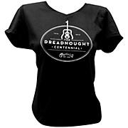 Martin Dreadnought Centennial V-Neck Ladies T-Shirt