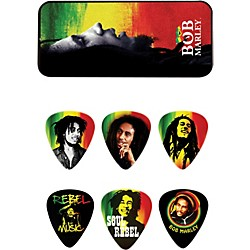 Dunlop Bob Marley Rasta Man Pick Tin with 6 Medium Picks (BOB-PT01M)