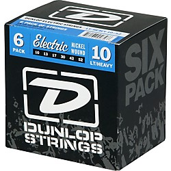 Dunlop Electric Guitar Strings Light Top Heavy Bottom 6-Pack (6CDEN1052)