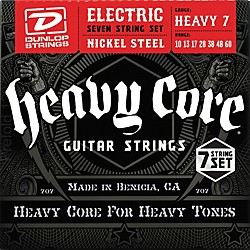 Dunlop Heavy Core 7-String Electric Guitar Strings - Heavy Gauge (DCH1060)