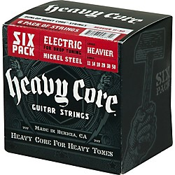 Dunlop Heavy Core Electric Guitar Strings Heavier 6-Pack (6CDHCN1150)