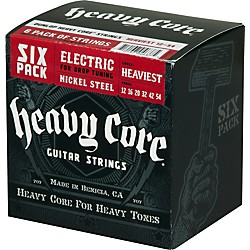Dunlop Heavy Core Electric Guitar Strings Heaviest 6-Pack (6CDHCN1254)