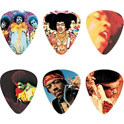 Dunlop Jimi Hendrix Montage Pick Tin with 6 Heavy Picks (JH-PT08H)