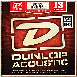 Dunlop Medium 80/20 Bronze Acoustic Guitar Strings (DAB1356)