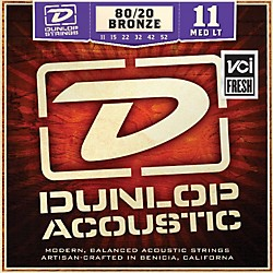 Dunlop Medium Light 80/20 Bronze Acoustic Guitar Strings (DAB1152)
