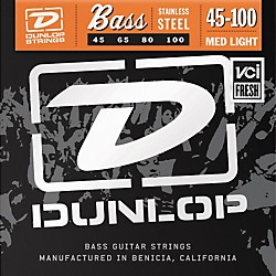 Dunlop Medium Light Stainless Steel Bass Strings (DBS45100)