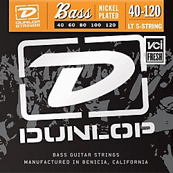 Dunlop Nickel Plated Steel Bass Guitar Strings - Light 5-String (DBN40120)