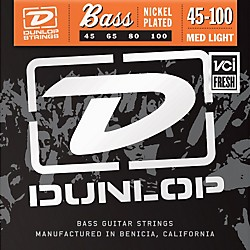 Dunlop Nickel Plated Steel Bass Strings - Medium Light (DBN45100)