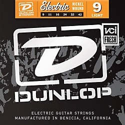 Dunlop Nickel Plated Steel Electric Guitar Strings - Light (DEN0942)