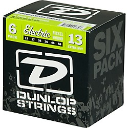 Dunlop Nickel Plated Steel Electric Guitar Strings Extra Heavy 6-Pack (6CDEN1356)