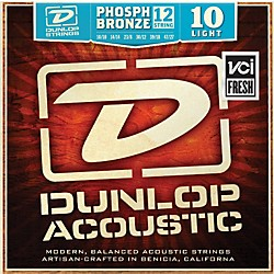 Dunlop Phosphor Bronze Light 12-String Acoustic Guitar String Set (DAP1047J)