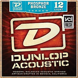 Dunlop Phosphor Bronze Light Acoustic Guitar Strings (DAP1254)