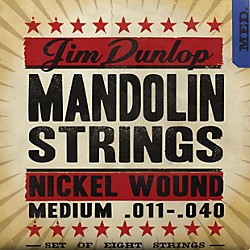 Dunlop Phosphor Nickel Light 8-String Mandolin Strings (DMN1140)