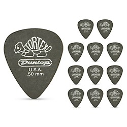 Dunlop Tortex Pitch Black Standard Guitar Picks 1 Dozen (488P050)