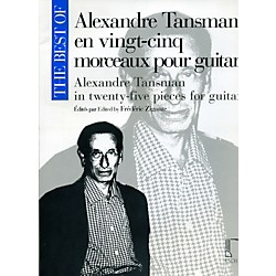Durand The Best Of Alexandre Tansman In Twenty-Five Pieces For Guitar (50565683)