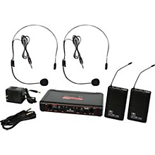 Galaxy Audio EDXR/38SS EDX Dual-Channel Wireless System with Two Headset Microphones