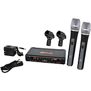 Galaxy Audio EDXR/HH38N Dual Channel Wierless Microphone System includes the EDXR Receiver and 2 HH38 Handheld Transmitters Frequency CODE N 518-542 MHz