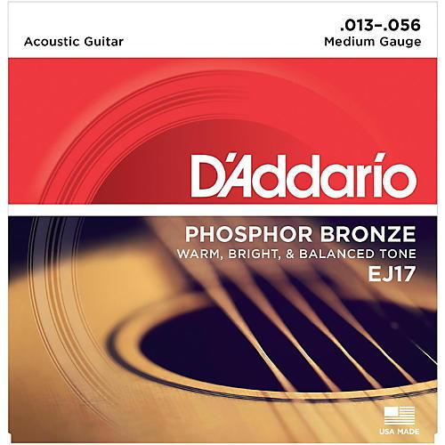 D'Addario EJ17 Phosphor Bronze Medium Acoustic Strings Single-Pack-thumbnail