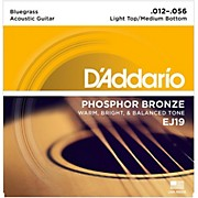 D'Addario EJ19 Phosphor Bronze Bluegrass Medium Light Acoustic Guitar Strings