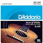 D'Addario EJ40 Silk and Steel Ball End Acoustic Folk Guitar Strings
