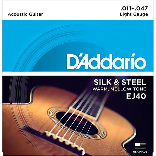 D'Addario EJ40 Silk and Steel Ball End Acoustic Folk Guitar Strings