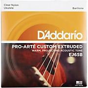 D'Addario EJ65B Pro-Arte Custom Extruded Baritone Nylon Ukulele Strings