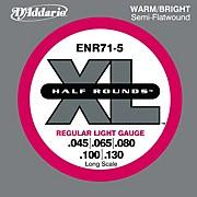 D'Addario ENR71-5 Half Rounds Light 5-String Bass Strings