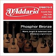 D'Addario EPBB170-5 Phosphor Bronze, Long-Scale, 5-String Acoustic Bass Guitar Strings