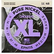 D'Addario EPN115 Pure Nickel Electric Guitar Blues/Jazz Electric Guitar Strings