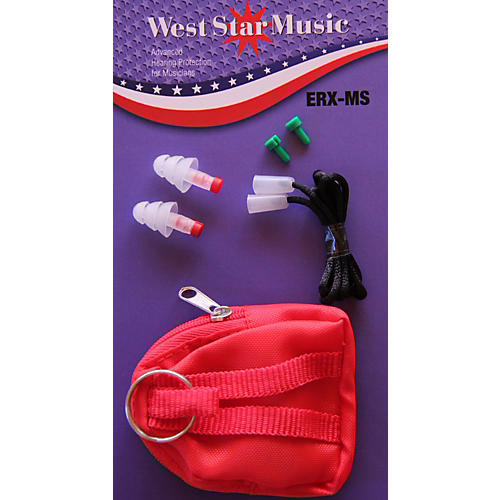WestStar ERX-MS Earplugs In Soft Case With Cord-thumbnail