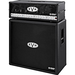 EVH 5150 III 100W Guitar Tube Head Black with 5150 III 412 Guitar Cab Black (5150B_5150B)