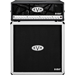 EVH 5150 III 100W Guitar Tube Head Black with 5150 III 412 Guitar Cab Ivory (5150B_5150I)
