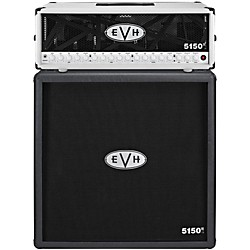 EVH 5150 III 100W Guitar Tube Head Ivory with 5150 III 412 Guitar Cab Black (5150I_5150B)