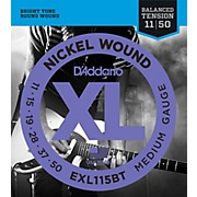 D'Addario EXL115BT Balanced Tension Medium Electric Guitar Strings - Single Pack