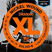 D'Addario EXL140 Light Top Heavy/Bottom 8-String Electric Guitar Strings